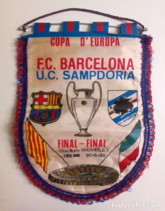 BANDERÍN FC BARCELONA (Coleccionismo Deportivo - Banderas y Banderines de Fútbol)