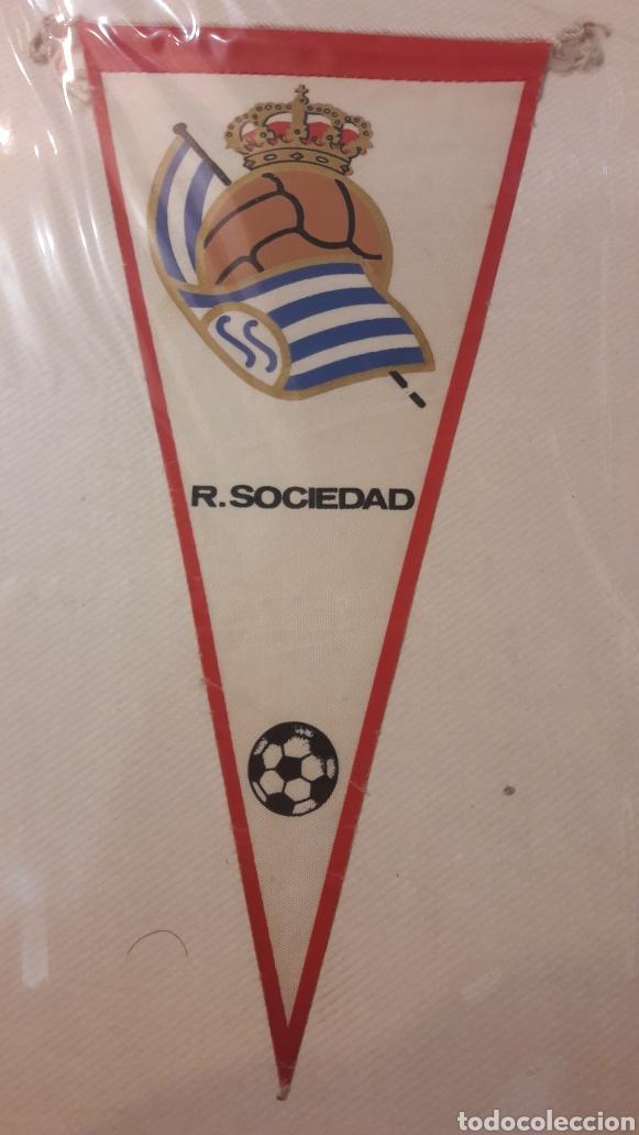 R. SOCIEDAD FUTBOL BANDERIN VINTAGE (Coleccionismo Deportivo - Banderas y Banderines de Fútbol)