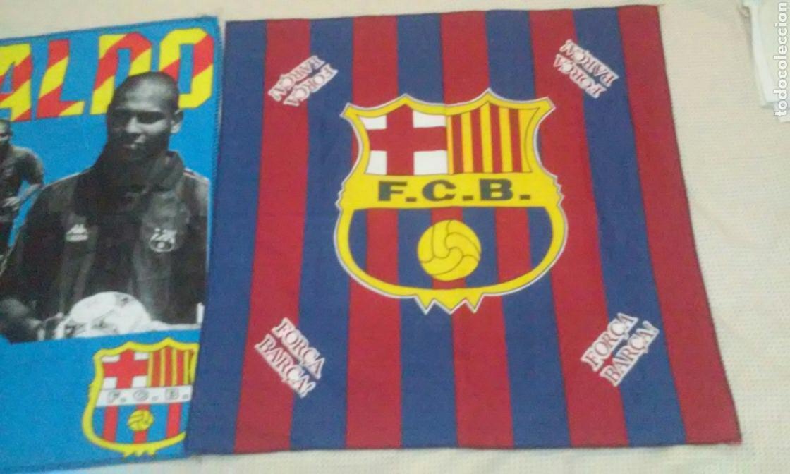 Coleccionismo deportivo: BANDERAS FLAGS ANTIGUAS DE RONALDO NAZARIO Y DEL FUTBOL CLUB BARCELONA - Foto 5 - 153260206
