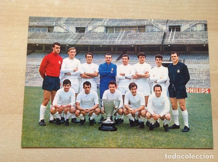 POSTAL DEL REAL MADRID DE LA TEMPORADA 1967-68, NO ESTE,LIGA 67/68 (Coleccionismo Deportivo - Banderas y Banderines de Fútbol)