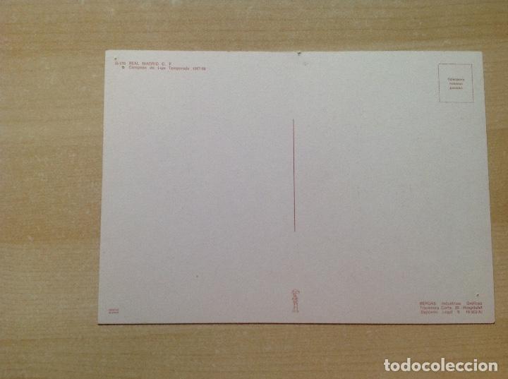 Coleccionismo deportivo: Postal del Real Madrid de la temporada 1967-68, no este,Liga 67/68 - Foto 2 - 154277786