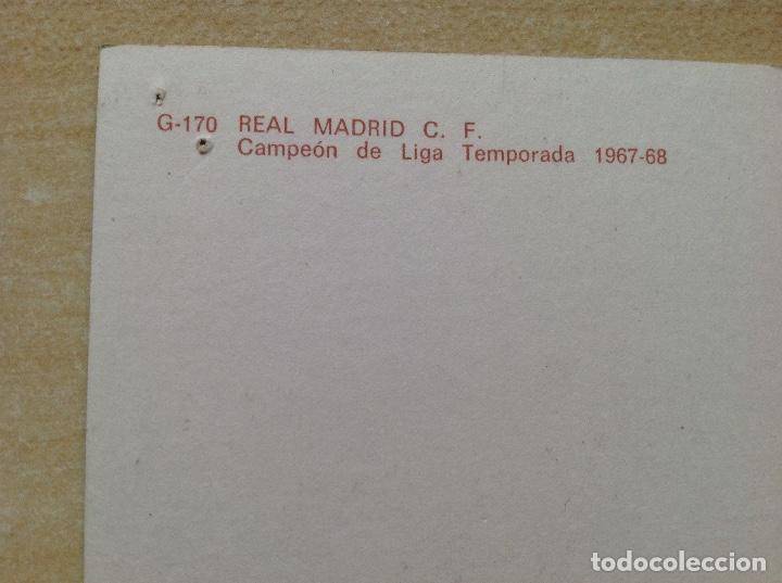 Coleccionismo deportivo: Postal del Real Madrid de la temporada 1967-68, no este,Liga 67/68 - Foto 3 - 154277786