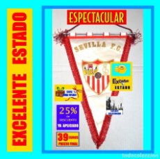 Coleccionismo deportivo: ESPECTÁCULAR BANDERÍN DEL SEVILLA CLUB DE FÚTBOL / F.C. - ORIGINAL AÑOS 70 - PRECIOSO - EXCELENTE. Lote 154786298