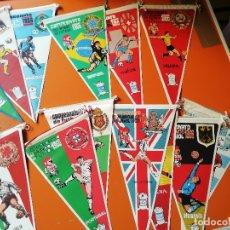 Coleccionismo deportivo: COLECCION COMPLETA BANDERINES FUTBOL . MUNDIAL 1966. 16 SELECCIONES. Lote 154833190
