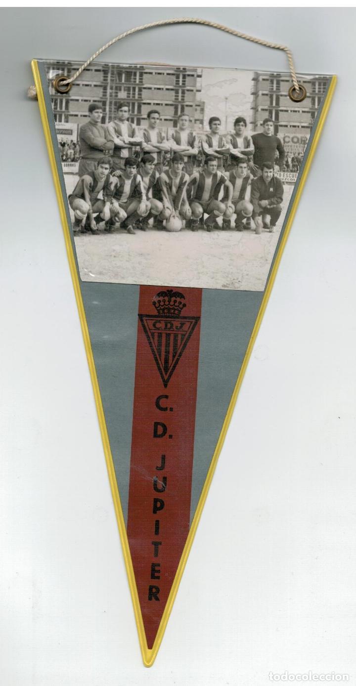 ANTIGUO BANDERIN - C.D. JUPITER (Coleccionismo Deportivo - Banderas y Banderines de Fútbol)