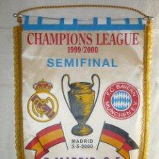 Coleccionismo deportivo: BANDERIN CONMEMORATIVO SEMIFINALES COPA DE EUROPA REAL MADRID BAYERN 3 MAYO 2000. Lote 155961910