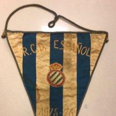 Coleccionismo deportivo: BANDERIN ORIGINAL CLUB DEPORTIVO ESPAÑOL RCD ESPANYOL DE BARCELONA FUTBOL. Lote 156598197