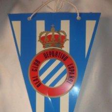 Coleccionismo deportivo: BANDERIN REAL CLUB DEPORTIVO ESPAÑOL DE PLÁSTICO. Lote 158398598