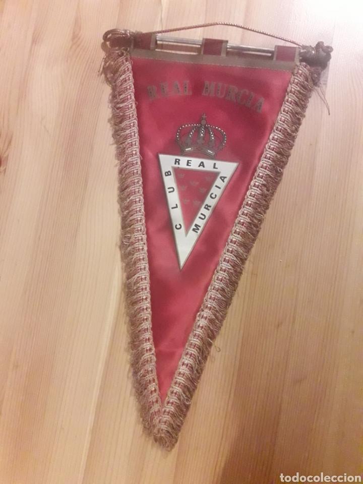 BANDERIN CLUB REAL MURCIA FUTBOL (Coleccionismo Deportivo - Banderas y Banderines de Fútbol)