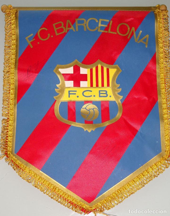 BANDERÍN DE FÚTBOL. AÑOS 70. FC BARCELONA. 32 CM (Coleccionismo Deportivo - Banderas y Banderines de Fútbol)
