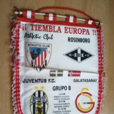 Colecionismo desportivo: BANDERÍN ATHLETIC CLUB BILBAO. CHAMPIONS LEAGUE 1998.. Lote 162354298