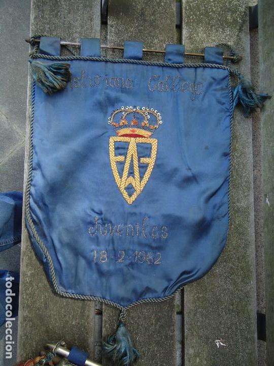 BANDERÍN DE LAS FEDERACIONES ASTURIANA GALLEGA DE JUVENILES 18-2- 1962 DE GRAN TAMAÑO 60 X 43 CM. (Coleccionismo Deportivo - Banderas y Banderines de Fútbol)