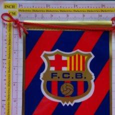 Coleccionismo deportivo: BANDERÍN DE FÚTBOL. ESCUDO EQUIPO. FC BARCELONA. 15 CM. Lote 163318786