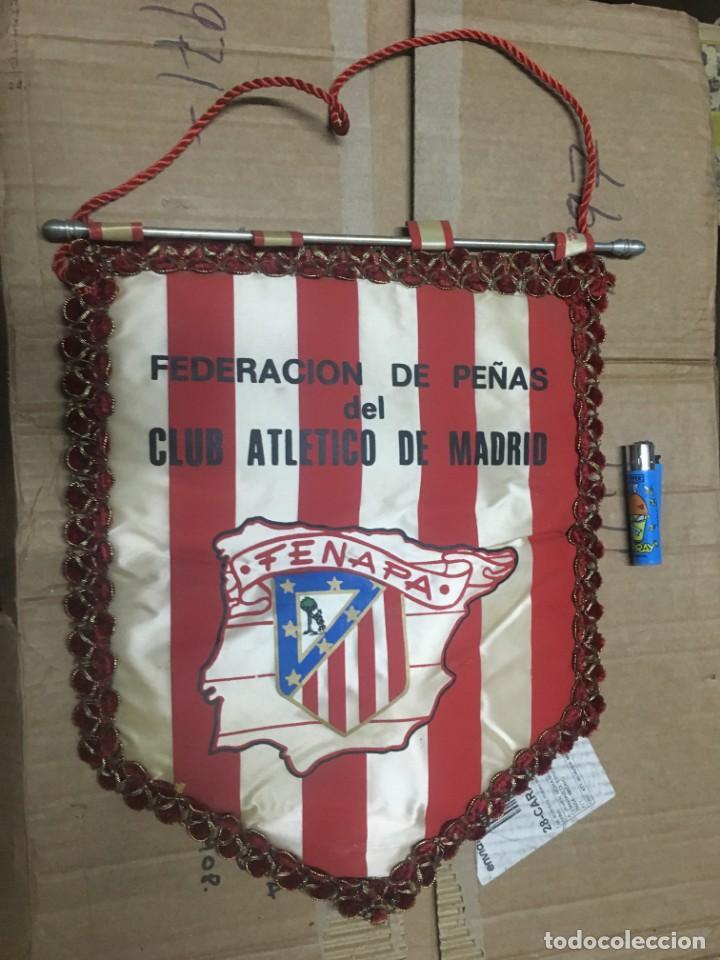 BANDERIN ATLETICO MADRID PEÑA ATLETICA FEDERACION DE PEÑAS FENAPA (Coleccionismo Deportivo - Banderas y Banderines de Fútbol)