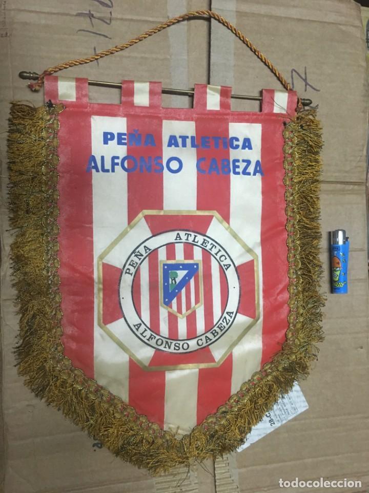 BANDERIN ATLETICO MADRID PEÑA ATLETICA ALFONSO CABEZA (Coleccionismo Deportivo - Banderas y Banderines de Fútbol)