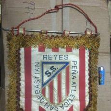 Collectionnisme sportif: BANDERIN ATLETICO MADRID PEÑA ATLETICA SAN SEBASTIAN DE LOS REYES X ANIVERSARIO 1981. Lote 164767318