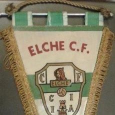Coleccionismo deportivo: BANDERÍN ORIGINAL DE FUTBOL ELCHE FUTBOL CLUB. AÑOS 50/60. MEDIDA 35 CM. Lote 165043238