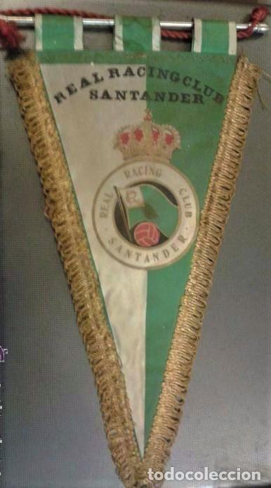 BANDERÍN ORIGINAL DE FUTBOL REAL RACING CLUB SANTANDER. AÑOS 50/60. MEDIDA 35 CM (Coleccionismo Deportivo - Banderas y Banderines de Fútbol)