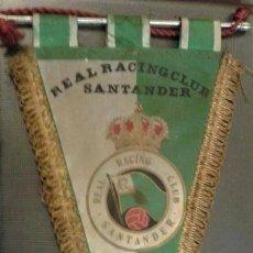 Coleccionismo deportivo: BANDERÍN ORIGINAL DE FUTBOL REAL RACING CLUB SANTANDER. AÑOS 50/60. MEDIDA 35 CM. Lote 165045410