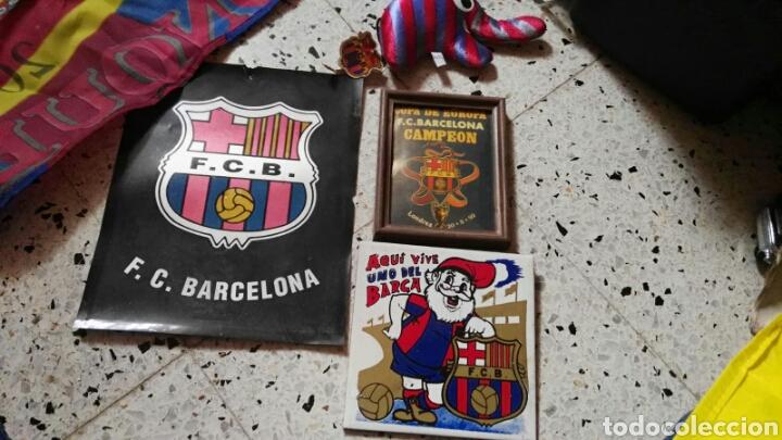 Coleccionismo deportivo: lote banderines banderas llaveros guantes boxeo camiseta larsson nº7 llaveros gorras fc barcelona - Foto 11 - 165610704