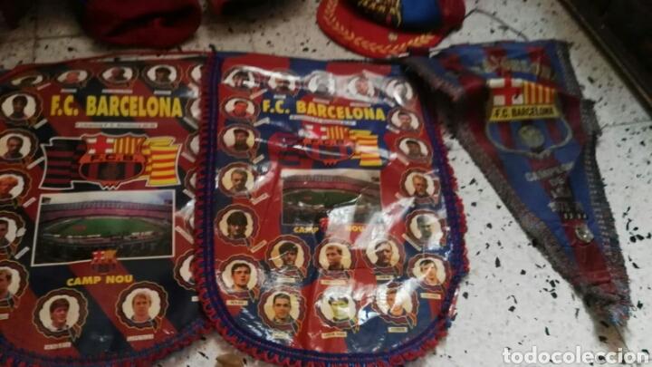 Coleccionismo deportivo: lote banderines banderas llaveros guantes boxeo camiseta larsson nº7 llaveros gorras fc barcelona - Foto 13 - 165610704