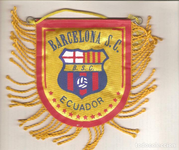 1 BANDERIN DEL BARCA ECUADOR (Coleccionismo Deportivo - Banderas y Banderines de Fútbol)