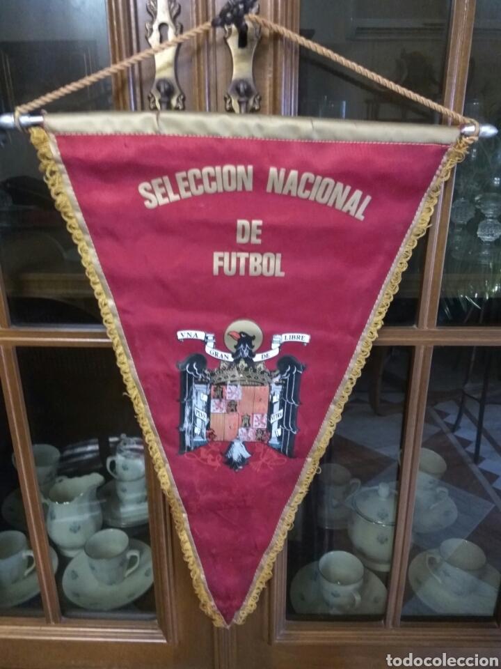 BANDERÍN SELECCIÓN ESPAÑOLA DE FÚTBOL ANTIGUO (Coleccionismo Deportivo - Banderas y Banderines de Fútbol)