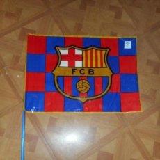 Coleccionismo deportivo: BANDERA PLÁSTICO CLUB FUTBOL BARCELONA / BARÇA / 48 X 34. Lote 167512408