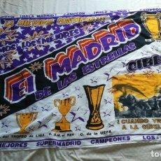 Coleccionismo deportivo: BANDERA REAL MADRID AÑO 98 - CONMEMORACIÓN DE LA 7° COPA DE EUROPA DE 1998. Lote 167582684