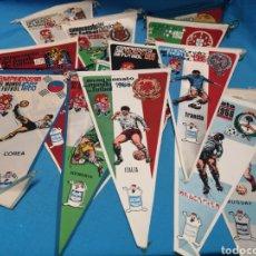 Coleccionismo deportivo: LOTE DE 13 BANDERINES, CAMPEONATO DEL MUNDO DE FÚTBOL 1966, PUBLICIDAD DE GIOR. Lote 168549002