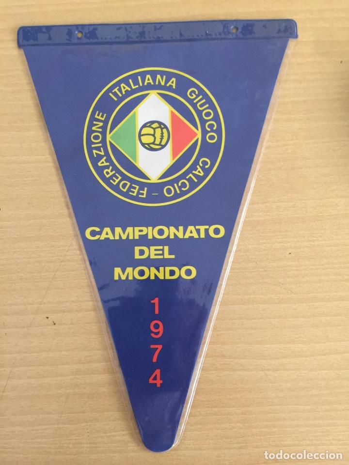 BANDERIN ITALIA MUNDIAL MÚNICH 1974 (Coleccionismo Deportivo - Banderas y Banderines de Fútbol)