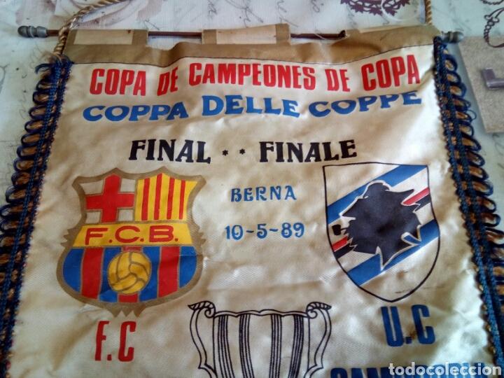 Coleccionismo deportivo: BANDERIN F. C. BARCELONA /U. C. SAMPDORIA - Foto 2 - 169660569