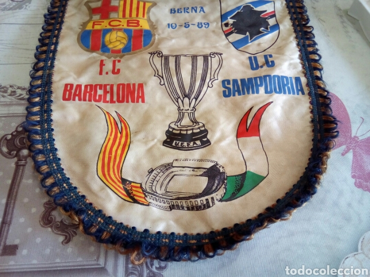 Coleccionismo deportivo: BANDERIN F. C. BARCELONA /U. C. SAMPDORIA - Foto 3 - 169660569