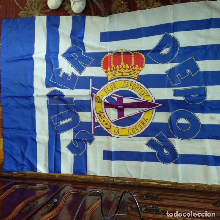 BANDERA SUPER DEPOR 90 X 130 CM RC DEPORTIVO LA CORUÑA NUEVA O COMO NUEVA (Coleccionismo Deportivo - Banderas y Banderines de Fútbol)