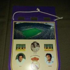 Coleccionismo deportivo: BANDERIN DE CARTULINA CON LOTERIA DE 1997 DE LA PEÑA MADRIDISTA LA SAETA. REAL MADRID CAMPEON LIGA. Lote 170912820