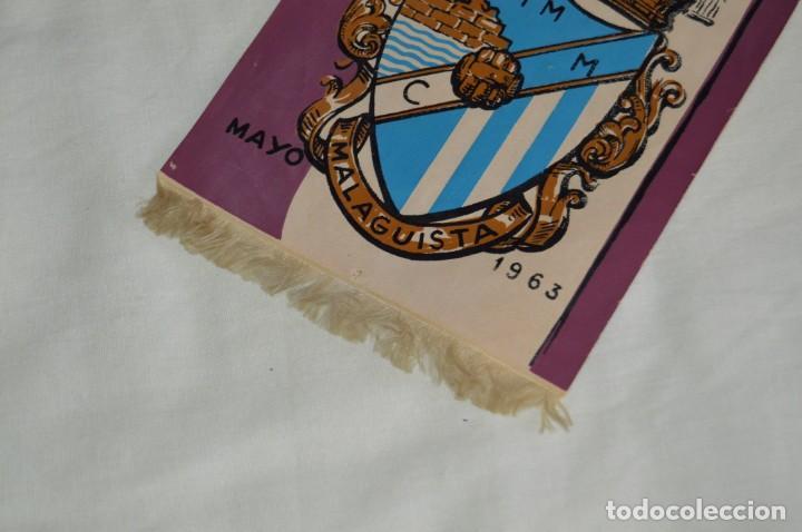 Coleccionismo deportivo: ANTIGUO BANDERÍN - MÁLAGA 1963 - PEÑA MALAGUISTA - MAYO DE 1963 - VINTAGE - HAZ OFERTA - Foto 4 - 171027817