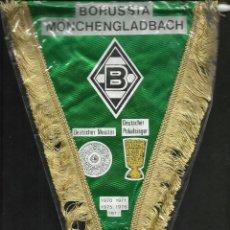 Coleccionismo deportivo: ANTIGUO BANDERIN DE LOS AÑOS 80- 90 DEL BORUSSIA MONCHENGLADBACH- COPAS LIGAS- ALEMANIA FUTBOL . Lote 171622543