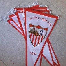 Coleccionismo deportivo: LOTE 5 BANDERINES SEVILLA FUTBOL CLUB 1905. CENTENARIO.. Lote 171820653