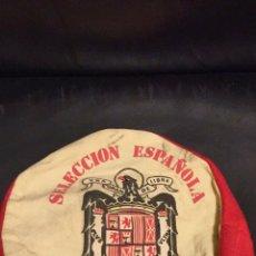 Coleccionismo deportivo: ANTIGUA Y ORIGINAL GORRA 20 N,FRANCO,FALANGE,SELECCION ESPAÑOLA FRANQUISTA,ÁGUILA RARA. Lote 172612415