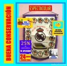 Coleccionismo deportivo: BANDERIN REAL MADRID TEMPORADA 1987 - 1988 - SANTIAGO BERNABEU BUYO SANCHIS HUGO SÁNCHEZ VALDANO. Lote 173154764