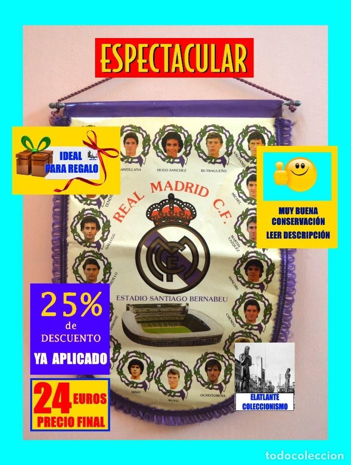 Coleccionismo deportivo: BANDERIN REAL MADRID TEMPORADA 1987 - 1988 - SANTIAGO BERNABEU BUYO SANCHIS HUGO SÁNCHEZ VALDANO - Foto 2 - 173154764