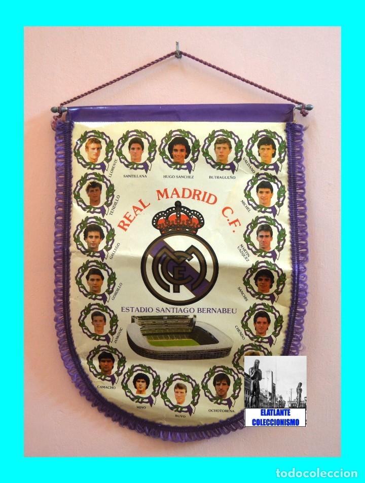 Coleccionismo deportivo: BANDERIN REAL MADRID TEMPORADA 1987 - 1988 - SANTIAGO BERNABEU BUYO SANCHIS HUGO SÁNCHEZ VALDANO - Foto 4 - 173154764