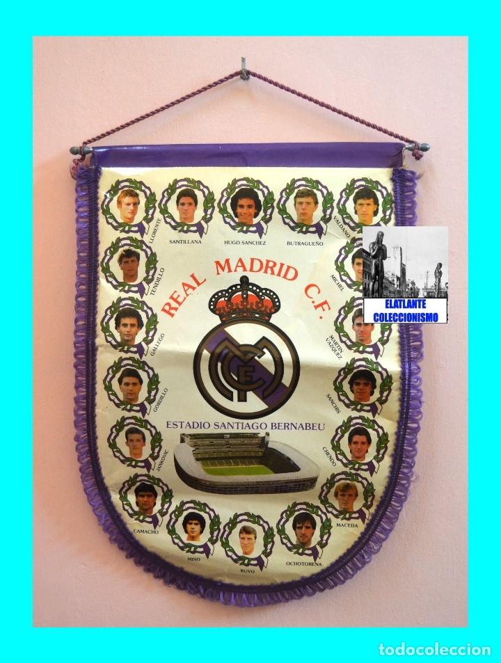 Coleccionismo deportivo: BANDERIN REAL MADRID TEMPORADA 1987 - 1988 - SANTIAGO BERNABEU BUYO SANCHIS HUGO SÁNCHEZ VALDANO - Foto 5 - 173154764