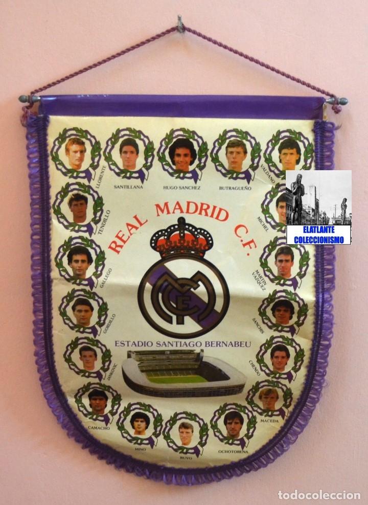 Coleccionismo deportivo: BANDERIN REAL MADRID TEMPORADA 1987 - 1988 - SANTIAGO BERNABEU BUYO SANCHIS HUGO SÁNCHEZ VALDANO - Foto 7 - 173154764