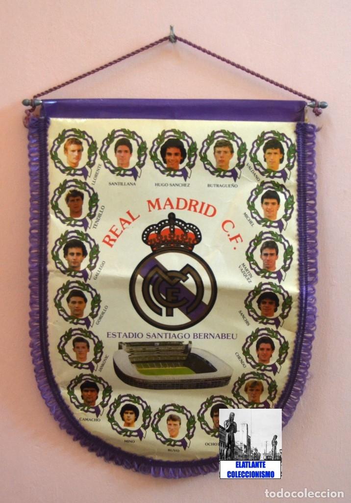 Coleccionismo deportivo: BANDERIN REAL MADRID TEMPORADA 1987 - 1988 - SANTIAGO BERNABEU BUYO SANCHIS HUGO SÁNCHEZ VALDANO - Foto 8 - 173154764