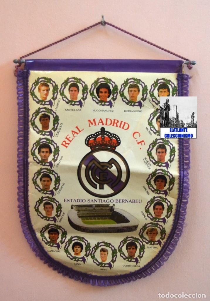 Coleccionismo deportivo: BANDERIN REAL MADRID TEMPORADA 1987 - 1988 - SANTIAGO BERNABEU BUYO SANCHIS HUGO SÁNCHEZ VALDANO - Foto 9 - 173154764