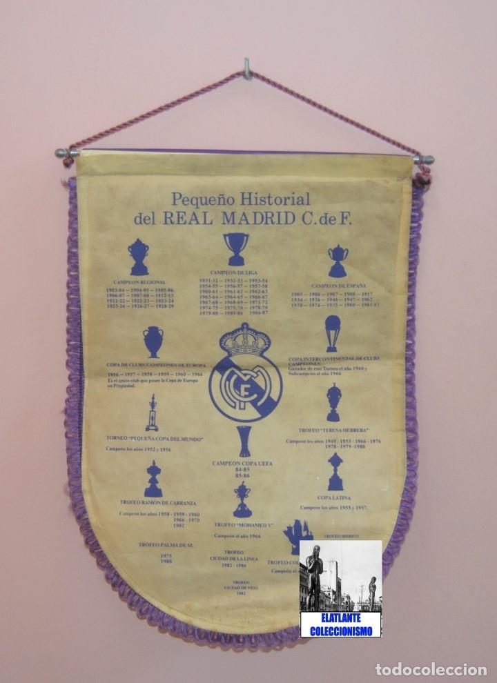 Coleccionismo deportivo: BANDERIN REAL MADRID TEMPORADA 1987 - 1988 - SANTIAGO BERNABEU BUYO SANCHIS HUGO SÁNCHEZ VALDANO - Foto 14 - 173154764