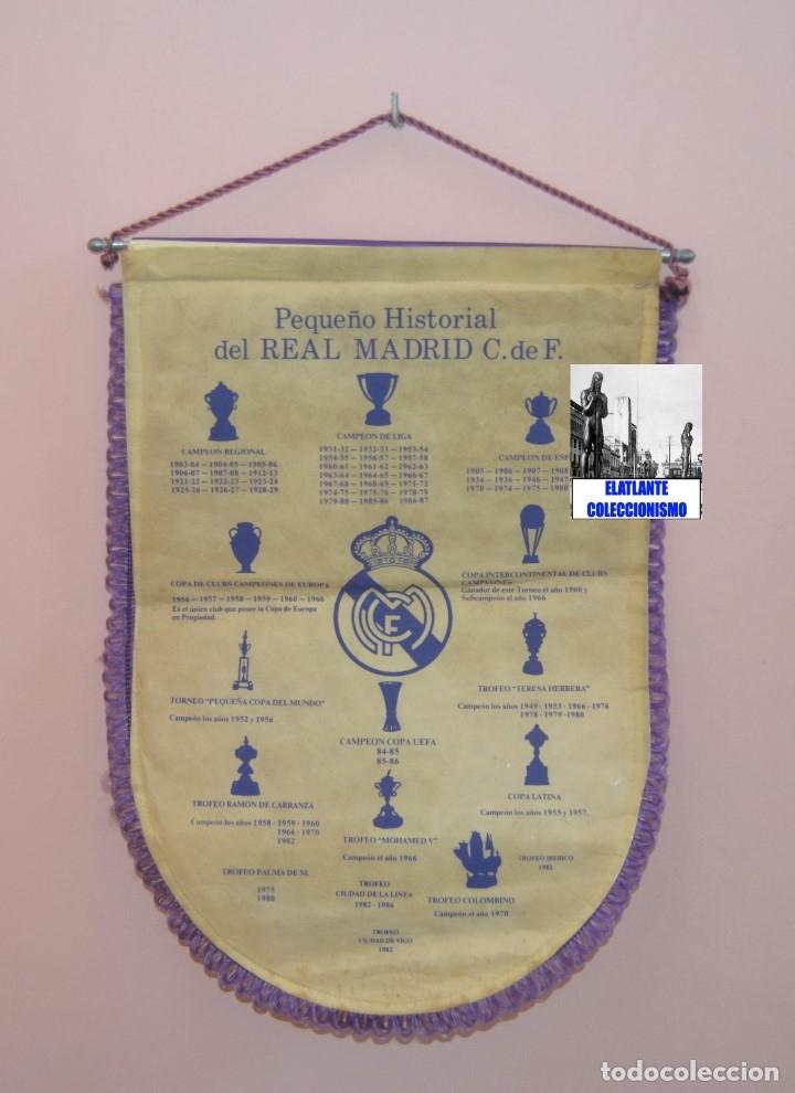 Coleccionismo deportivo: BANDERIN REAL MADRID TEMPORADA 1987 - 1988 - SANTIAGO BERNABEU BUYO SANCHIS HUGO SÁNCHEZ VALDANO - Foto 15 - 173154764
