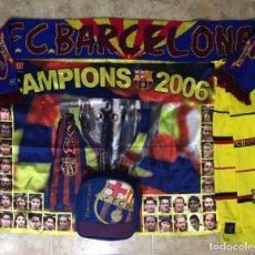 Coleccionismo deportivo: LOTE BARÇA FC BARCELONA-BANDERA, BUFANDAS, MOCHILA. Lote 170034380