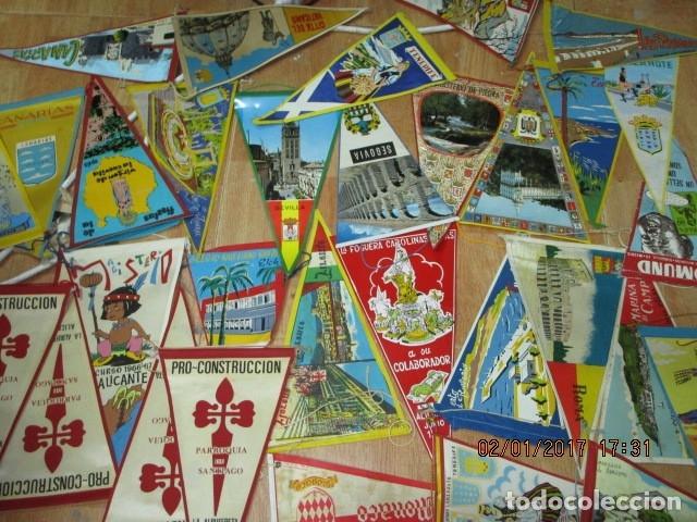 Coleccionismo deportivo: gran LOTE 30 BANDERINES VARIADOS ANTIGUOS CIUDADES ESPAÑA EUROPA DOMUND CANARIAS ALICANTE ETC - Foto 3 - 134900902